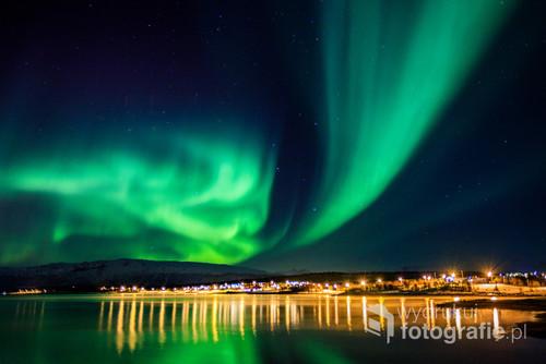 Zorza Polarna - zdjęcie zrobione w Norwegii, ponad 500 km za kołem polarnym.