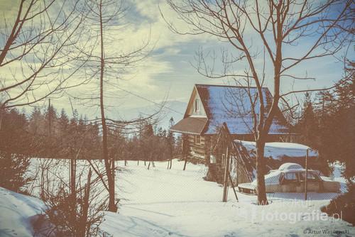Zdjęcie zostało wykonane podczas wycieczki w górach Beskidu Śląskiego. Widok na górę Skrzyczne.