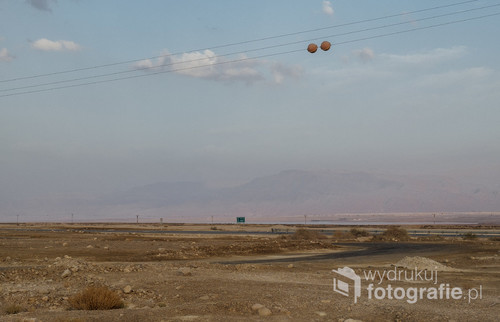 Pustynne okolice Masady w Izraelu