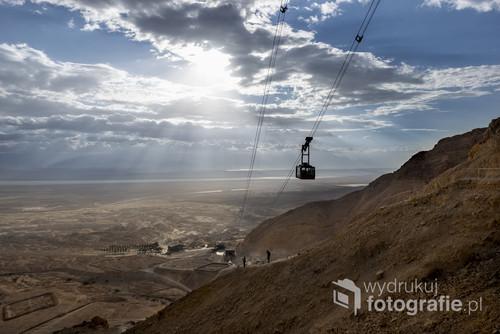 Poranek przy twierdzy Masada w Izraelu