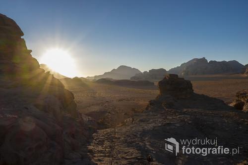 Nieziemkie widoki na jordańskiej Wadi Rum
