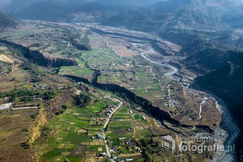 Lot helikopterem w Himalajach