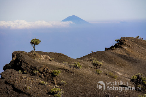 Zdjęcie wykonałam podczas wchodzenia na wulkan Rinjani w Indonezjii W tle widać wulkan na sąsiedniej wyspie - Bali.