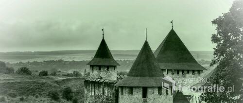 Chocim, Ukraina, średniowieczny zamek z XIV wieku.