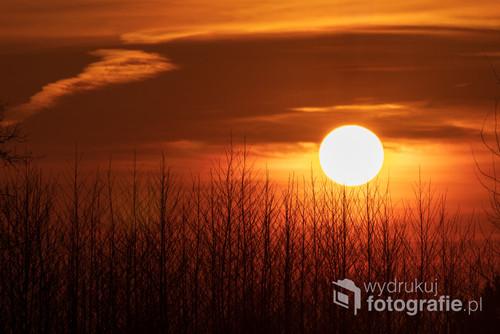 Okolice Krakowa. Zachód słońca
