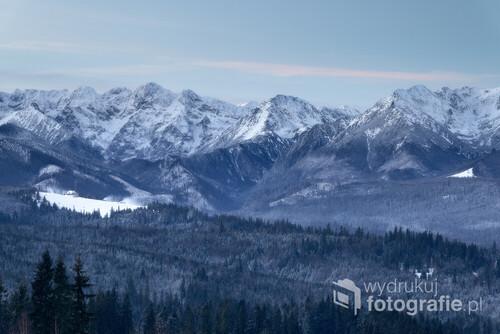 Widok z Pogórza Spiskiego.