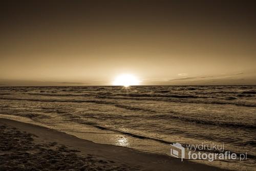 Morze Bałtyckie w okolicach Grzybowa, gdzie znajduje się spory kawałek ładnej plaży