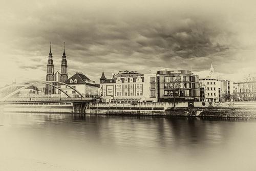 Stare Miasto w Opolu w wersji retro