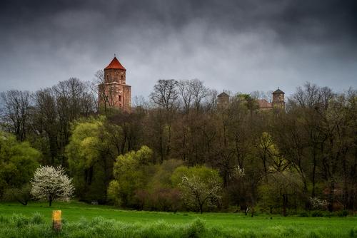 Ruiny średniowiecznego zamczyska dawnej kasztelanii, a potem księstwa toszeckiego na Górnym Śląsku