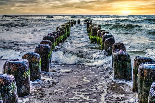 Wybrzeże Morza Bałtyckiego w okolicach Kołobrzegu