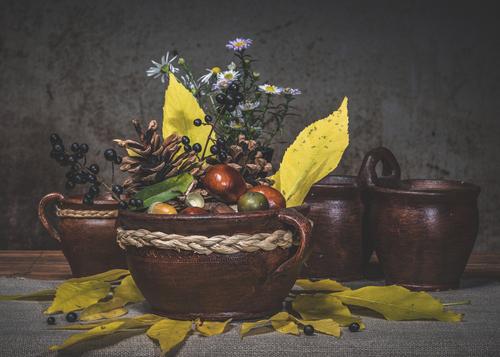 Jesienna kompozycja martwej natury