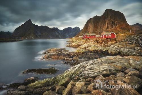 Zdjęcie zostało wykonane na Lofotach w Norwegii.