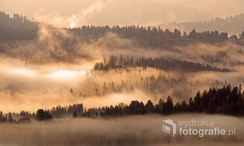 Beskid Mountains in Poland Widok z Ochodzitej (Beskid Śląski)