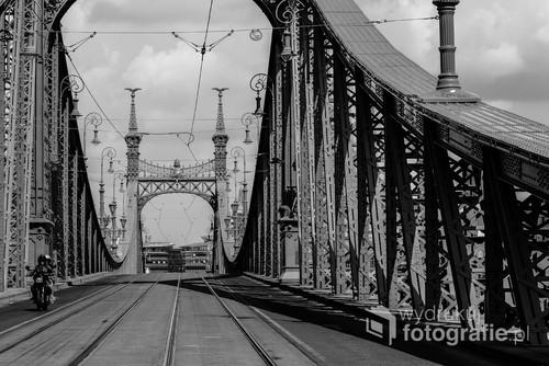 Niezwykła sytuacja na zatłoczonym zwykle Moście Wolności w Budapeszcie utrwalona dzięki nadzwyczajnemu refleksowi.