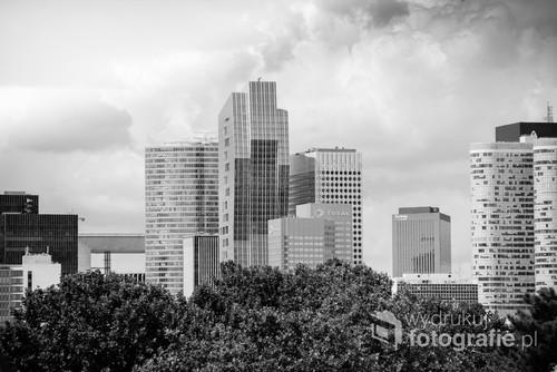 Nowoczesna dzielnica podparyska La Défense stanowiąca centrum biznesowe Francji.