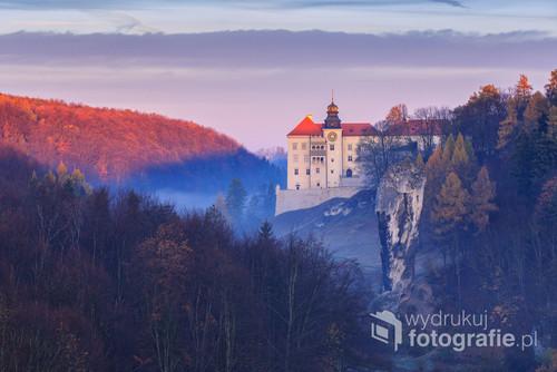 Zdjęcie zrobiłem jesienią z miejscówki którą uwielbiam. Na zdjęciu Zamek w Pieskowej Skale i znana