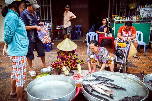 Targ rybny. Wietnam.