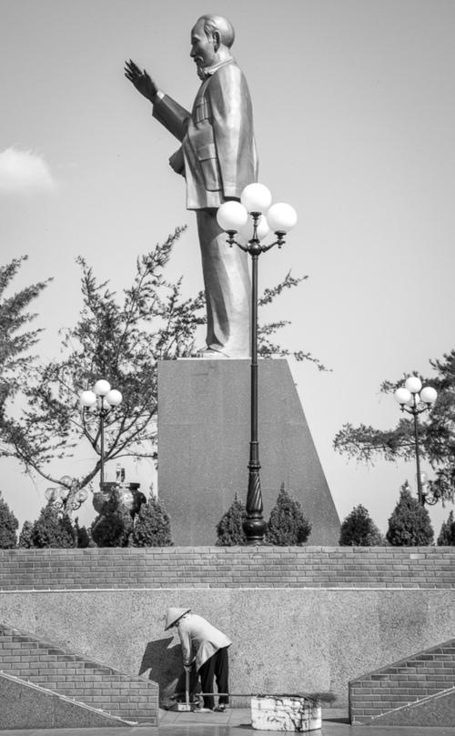 Pomnik Ho Chi Minha -wietnamskiego polityka komunistycznego. Can Tho, Wietnam.