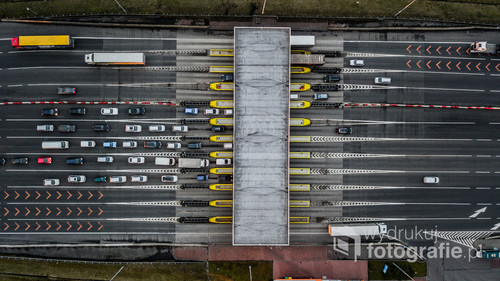 Bramki na autostradzie A4 w Gliwicach