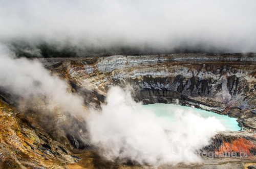 Krater wulkanu Poas, Kostaryka 2015