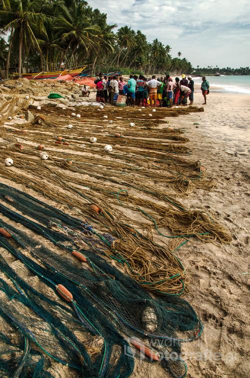 Rybacy po udanym połowie na plaży Hikkaduwa, Sri Lanka 2015. Zdjęcie nagrodzone Photo Press Award - Camerapixo Photography Magazine