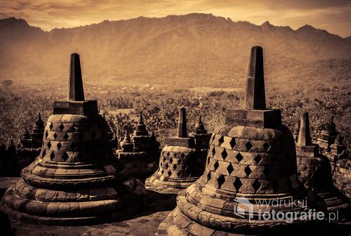 Buddyjska świątynia Borobudur - Jawa, Indonezja 2016