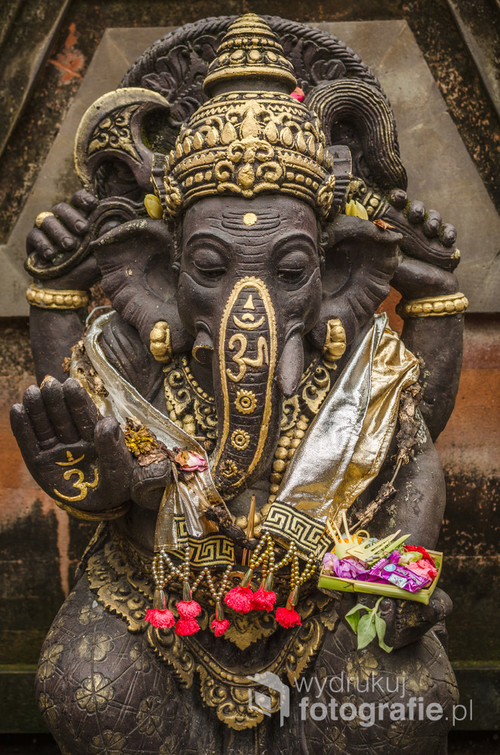 Figurka hinduskiego boga Ganesha - Bali, Indonezja 2016