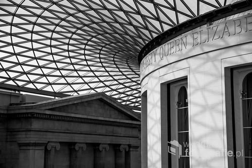 Przepiękne Muzeum Brytyjskie. Na zdjęciu widać główny hol wewnętrzny.