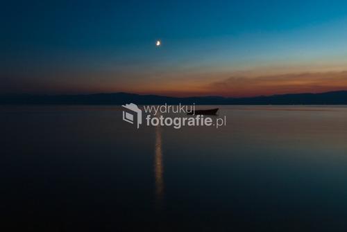 Ohrid, 2012, widok na Jezioro Ohrydzkie z centrum miasta