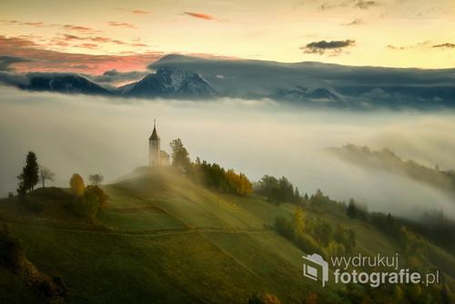 St. Primoz mały koscółek w Słowenii