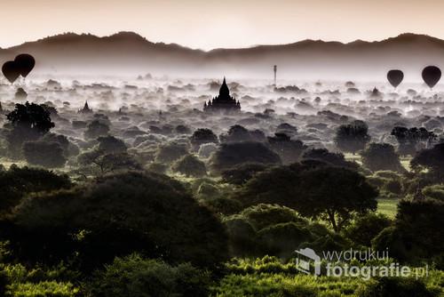 widok na Bagan, Mjanma 2016