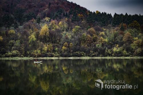 Wędkarze nad Jeziorem Klimkowskim