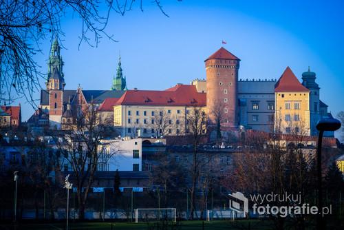 widok zamku na Wawelu