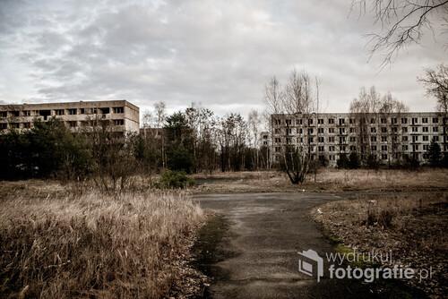 Pstrąże, 03.02.2016. Opuszczone miasto. Kompleks dla rodzin żołnierzy radzieckich koszarów wojskowych.