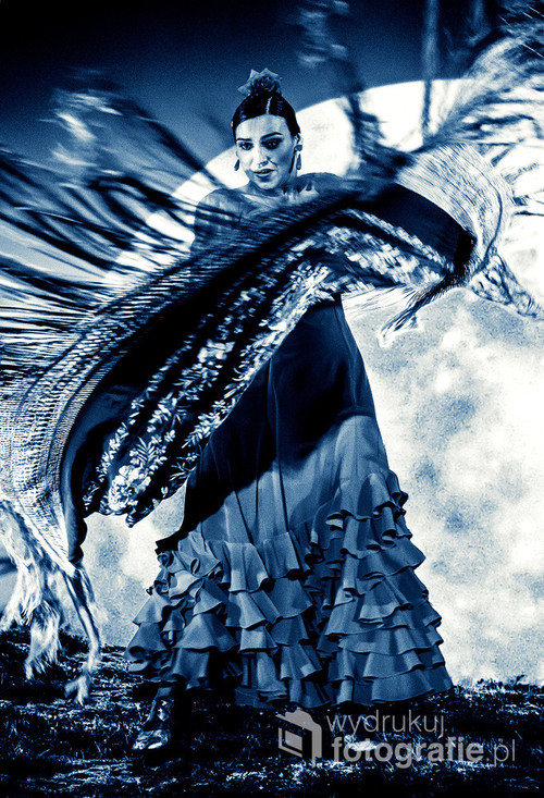Composite photography. Marta Robles (Marta Dębska) podczas koncertu z cyklu