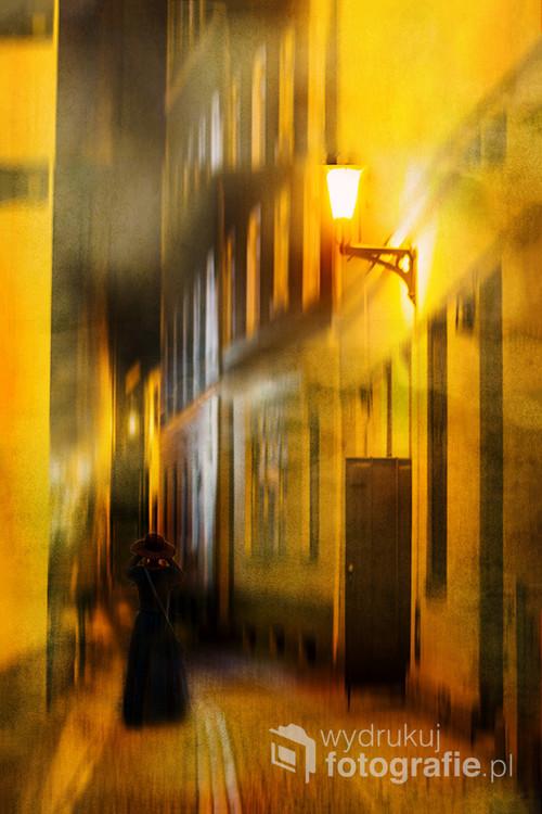 Zdjęcie zostało zrobione na toruńskiej Starówce w jesienny wieczór. Zastosowałam tu obróbkę w PS starając się zachować klimat miasta i pory dnia.
