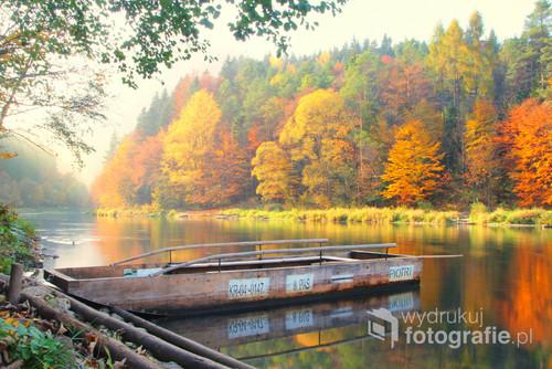 Zdjęcie zostało wykonane pewnego jesiennego popołudnia w po przeprawie przez Dunajec.