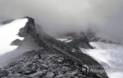 Góry Jotunheimen, Norwegia, szlak na Galdhopiggen (najwyższy szczy Norwegii), Sierpień 2014
