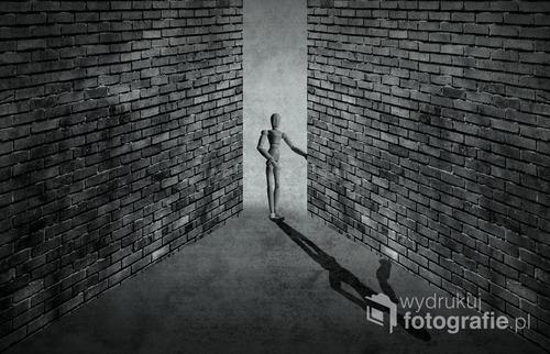 praca wykonana w programie graficznym z połączenia textur i fotografii postaci.