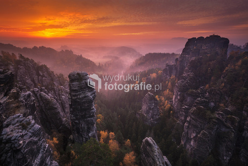 Góry w Saskiej Szwajcarii.