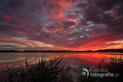 Tuż przed wschodem słońca, Pojezierze Łęczyńsko-Włodawskie, Polesie Zachodnie.