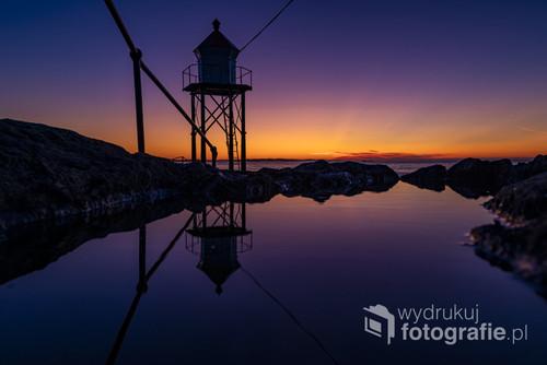 Zachód słońca w Haugesund Norwegia