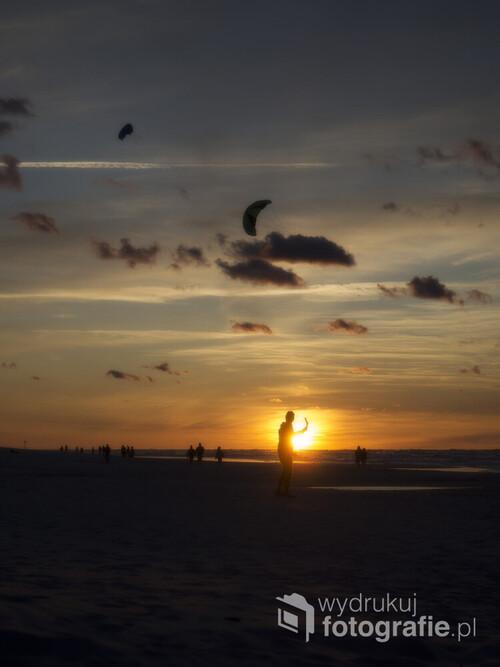Zachód słońca w Białogórze