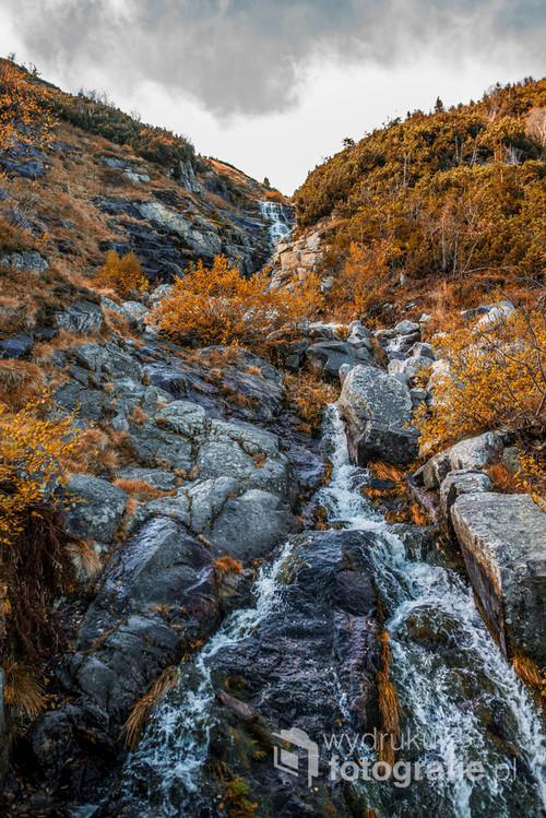Wodospad Łomniczki przy szlaku na Śnieżkę