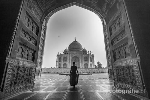 Z widokiem na Taj Mahal, Indie.