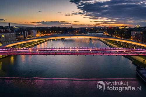 Jeden z wielu pięknych zachodów słońca jakie miały ostatnio miejsce nad Krakowem