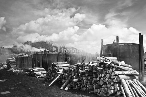 Bieszczady, wyrób węgla drzewnego