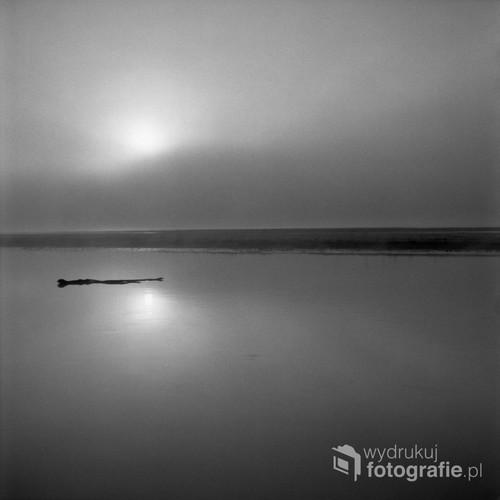 Biebrzański Park Narodowy Kwiecień 2017  Fotografia wykonana o wschodzie słońca, analogowym, średnioformatowym aparatem na filmie czarno-białym Ilford FP4