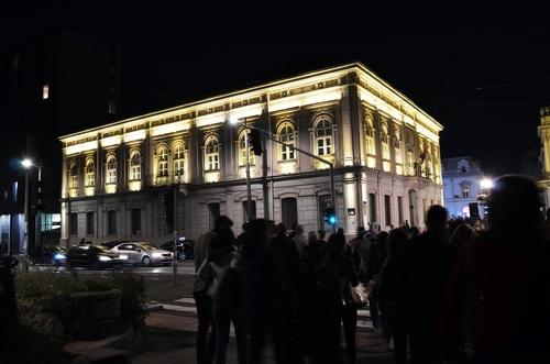 zdjęcie zrobiono w Serbii w mieście Belgrad w nocy .