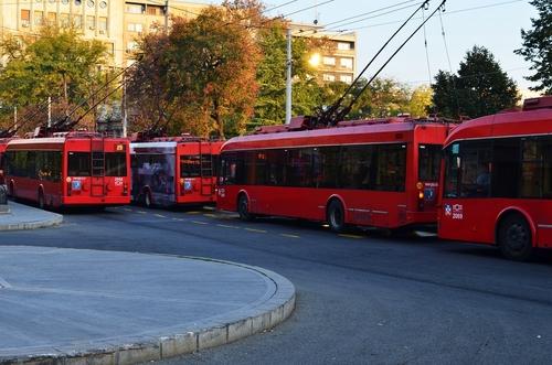 Zajezdnia tramwajowa w Belgradzie stolicy Serbii